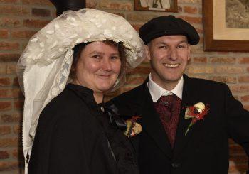 Boerenbruidspaar: Henri van Bree en Jolanda van Dijk