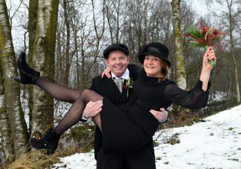 Boerenbruidspaar: Meike en Dave