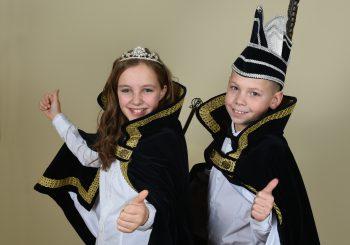 Jeugdprins Mika en Jeugdprinses Sanne