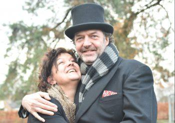 Boerenbruidspaar: Paul van Kuijlenburg en Carla Jaspers